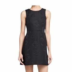 French Connection Black Textured Mini Sheath Dress